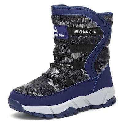 Mishansha Snow Boots Warm Waterproof Anti-Slip Anti-Collision Hight-Cut for Outdoor Skiing