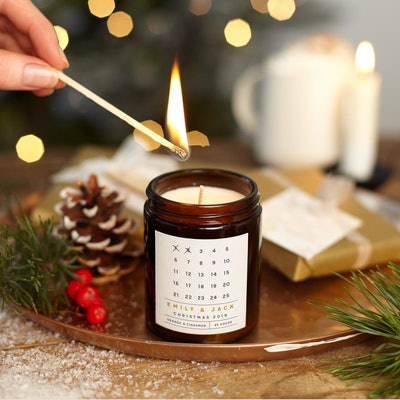 KindredFires Advent Calendar Christmas Candle