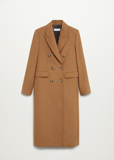Wool Double-Breasted Coat