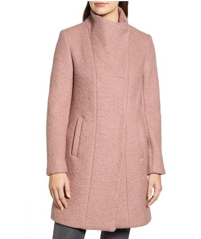Kenneth Cole Wool Blend Bouclé Coat