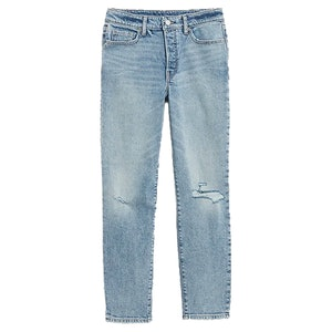 High-Waisted O.G. Straight Button-Fly Ripped Jeans