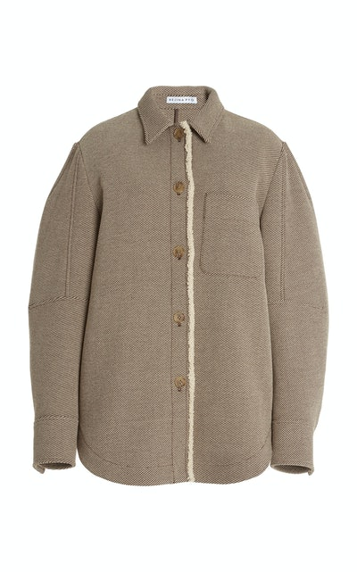 Kinsey Shearling-Trimmed Wool-Twill Jacket