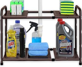 SimpleHouseware 2-Tier Expandable Shelf Organizer