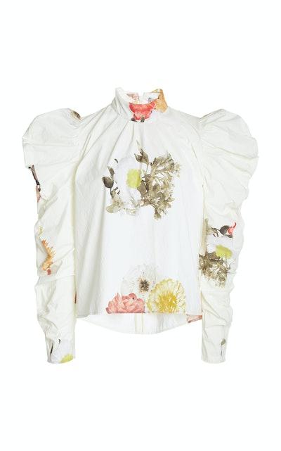Sofia Top Print Flower White