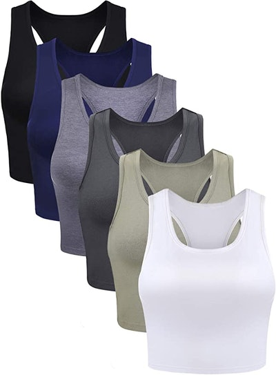 Boao Crop Tank Tops (6- Pack)