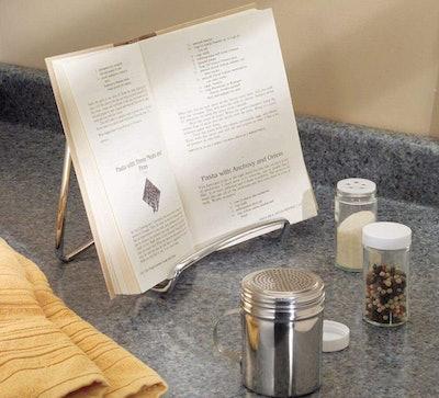 mDesign Chrome Cookbook Holder