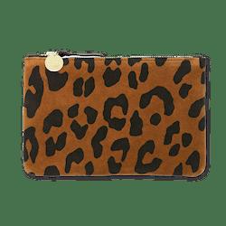 Cognac Pablo Cat Suede Wallet Clutch