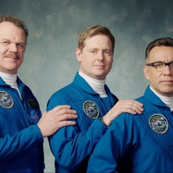John C. Reilly, Tim Heidecker, and Fred Armisen in Showtime's 'Moonbase 8.'