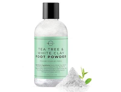 O Naturals Tea Tree Oil Kaolin Clay Foot Powder, 3.6 Oz.
