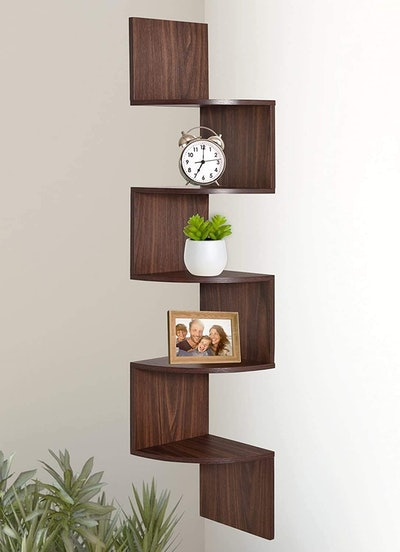 Greenco 5-Tier Wall Mount Corner Shelves