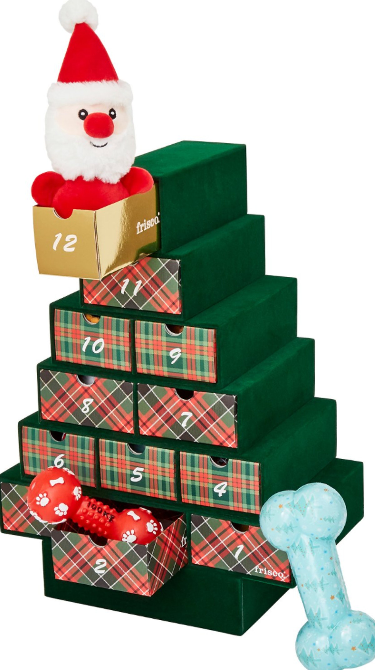 Frisco Holiday 12 Days of Christmas Advent Calendar with Toys for Dogs