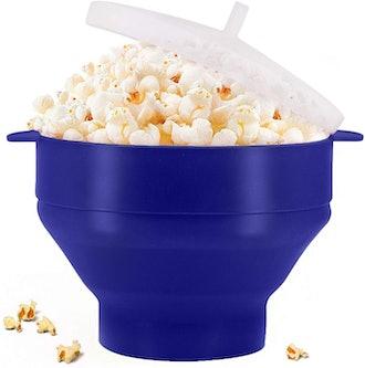 KORCCI Microwaveable Silicone Popcorn Popper