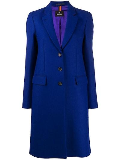 Epsom three-button coat