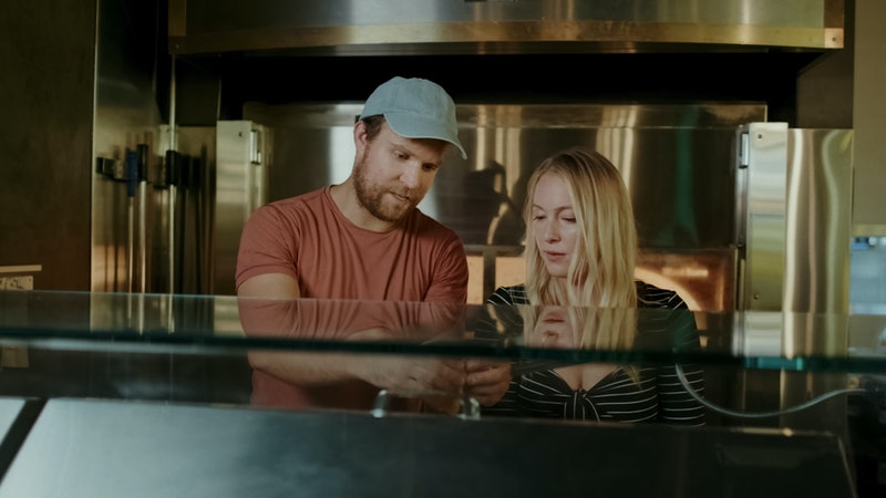 India Oxenberg and fiance Patrick in 'Seduced,' via Starz press site.
