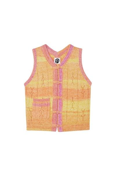 Recycled Cashmere Shrunken Waistcoat
