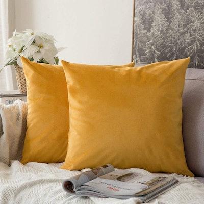 MIULEE Velvet Pillow Covers (Pack of 2)