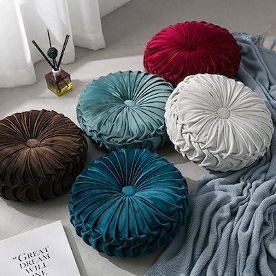 YNester Round Pleated Floor Cushion