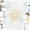 Human digital connection concept.
