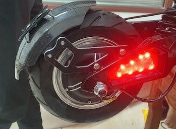 Voro Motors Cruiser e-scooter rear wheel.