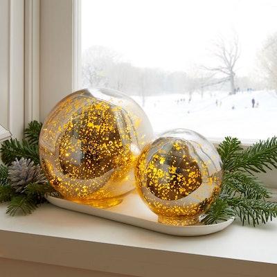 Light Up Mercury Glass Globe