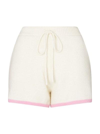 Harriet Ivory Alpaca Blend Shorts