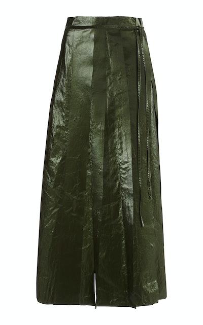 Layla Skirt Satin Khaki Green
