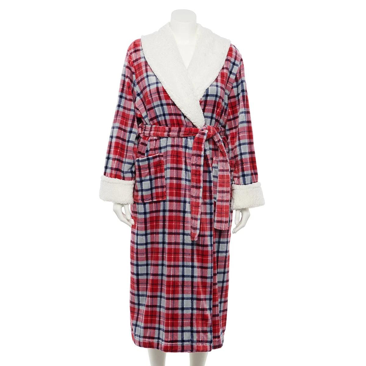Sonoma Goods For Life Plus Size Plush Long Robe
