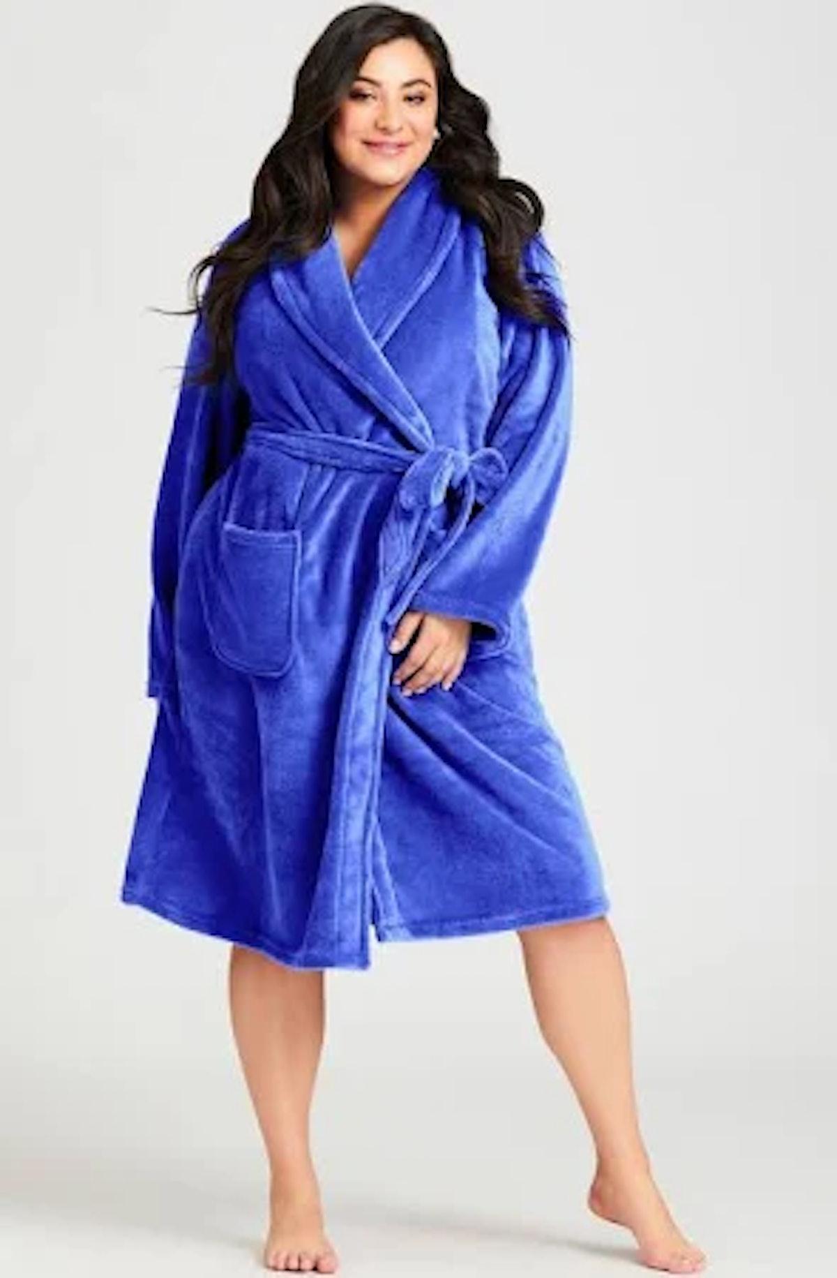Avenue Plush Lilac Robe