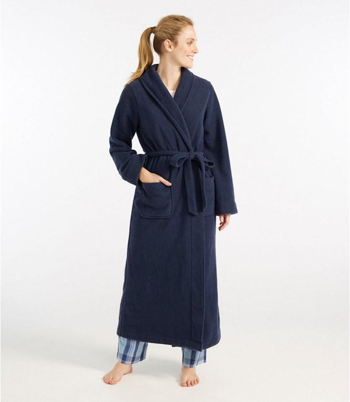 L.L. Bean Women's Winter Fleece Robe, Wrap-Front
