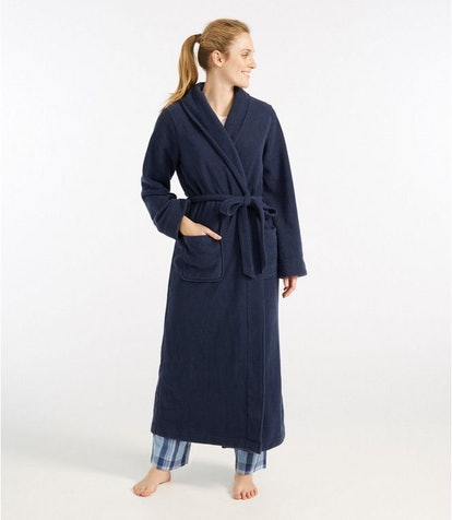 L.L. Bean Women's Winter Fleece Robe, Wrap-Front