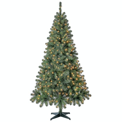 Holiday Time Pre-Lit Madison Pine Artificial Christmas Tree, 6.5', Mini Clear Lights