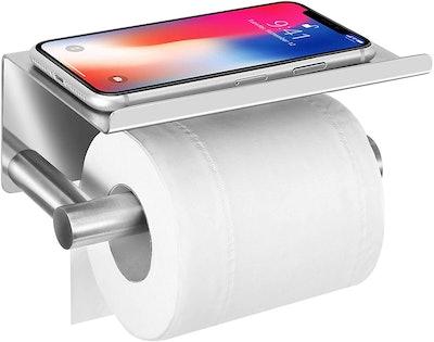 UgBaBa Toilet Paper Holder with Anti-Drop Phone Shelf