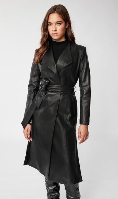 Selena Leather Trench Coat