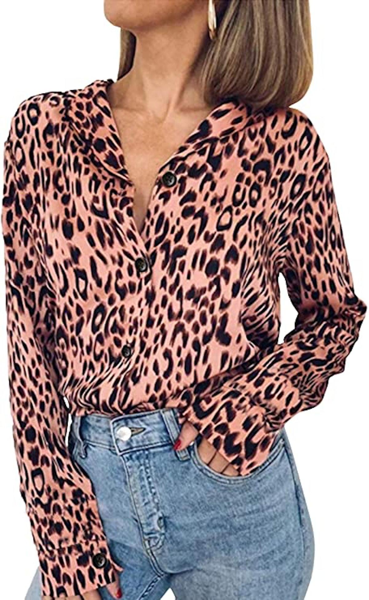 ECOWISH Leopard Tunic