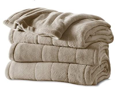 Sunbeam Heated Microplush Blanket
