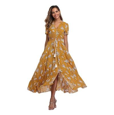 VintageClothing Floral Maxi Dress