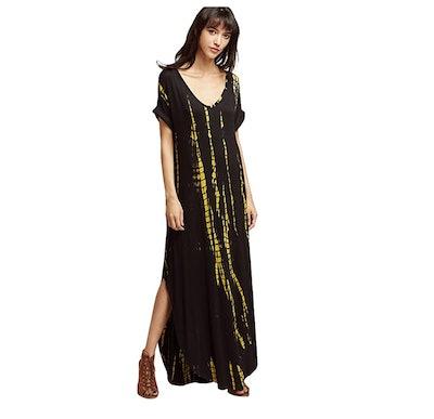 MakeMeChic Tie-Dye Long Dress
