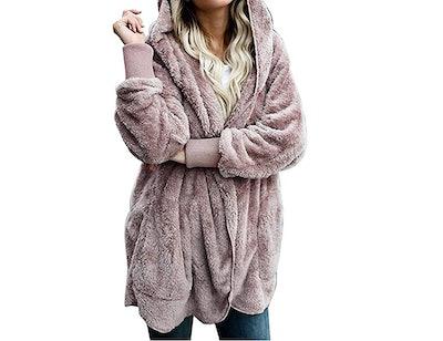 Zilcremo Hooded Fuzzy Jacket