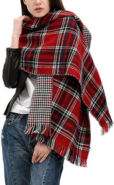 Urban CoCo Plaid Blanket Scarf