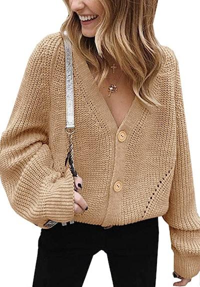 Angashion Cable Knit Cardigan