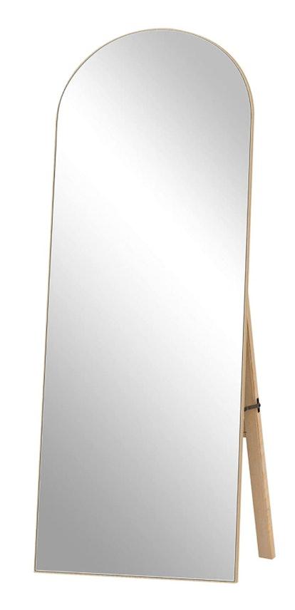 Modern Arch-Crowned Floor Mirror