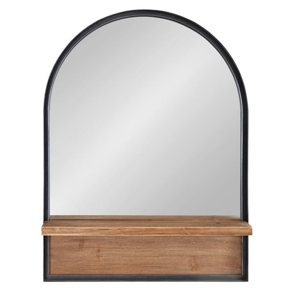 Catoosa Distressed with Shelves Accent Mirror