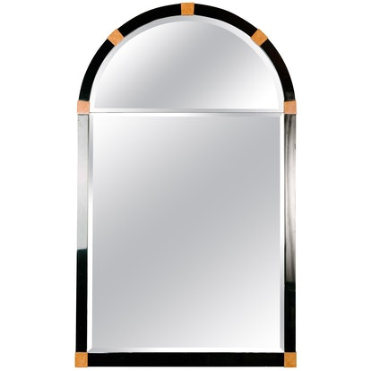 Mid-Century Modern Lacquered Arch Mirror