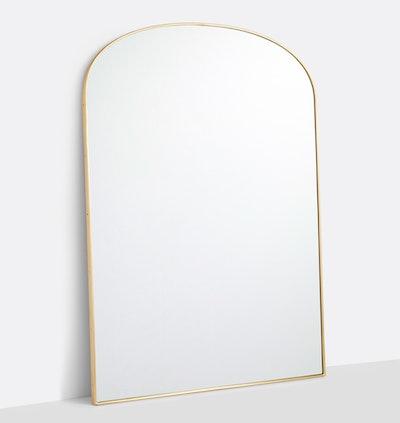 Arched Floor Metal Framed Floor Mirror