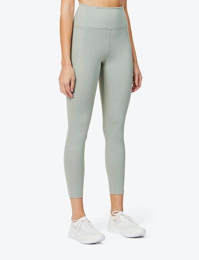 Compressive 7/8 high-rise stretch-jersey leggings