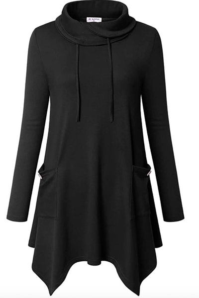 Bulotus Cowl Neck Tunic with Pockets