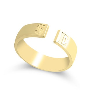 Open Ring with Initials