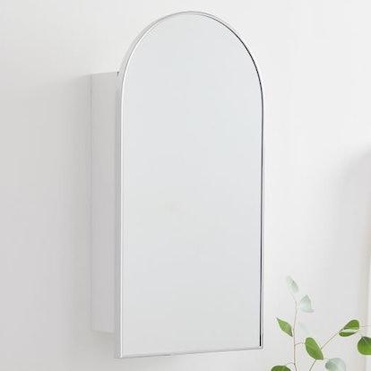 Arched Metal Framed Medicine Cabinet