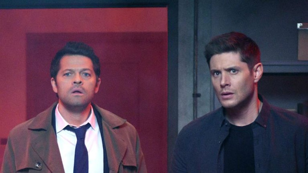 Castiel (Misha Collins) and Dean (Jensen Ackles) on 'Supernatural'