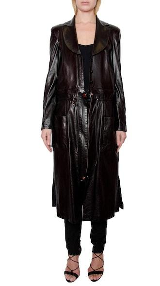 All Leather Infinity Combo Coat